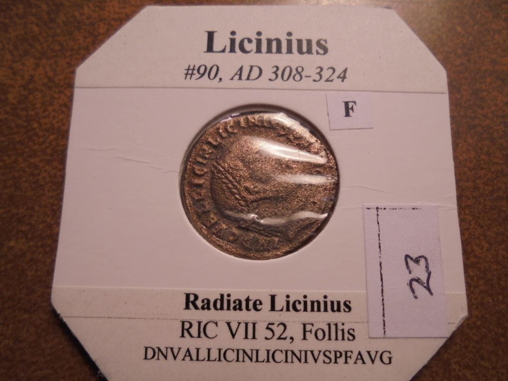 308-324 A.D. LICINIUS ANCIENT COIN (FINE)