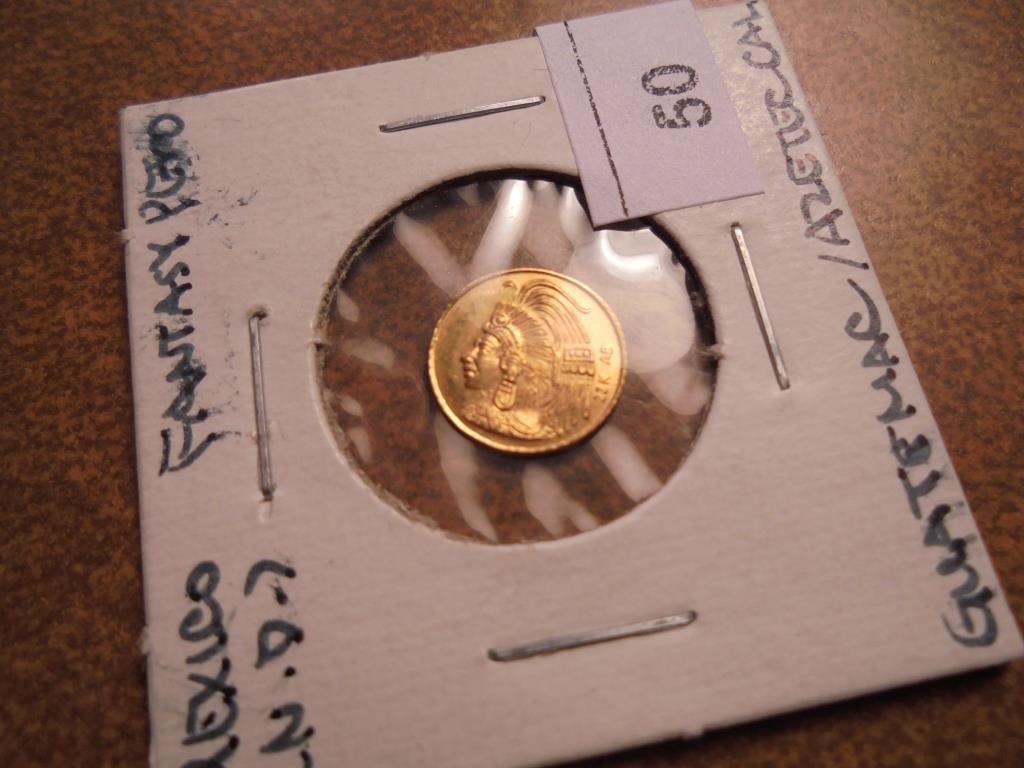 GOLD MEXICO FANTASY PESO .55 GRAM 22KT.