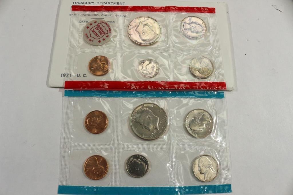 1971 US MINT SET (UNC) P/D/S (WITH ENVELOPE)