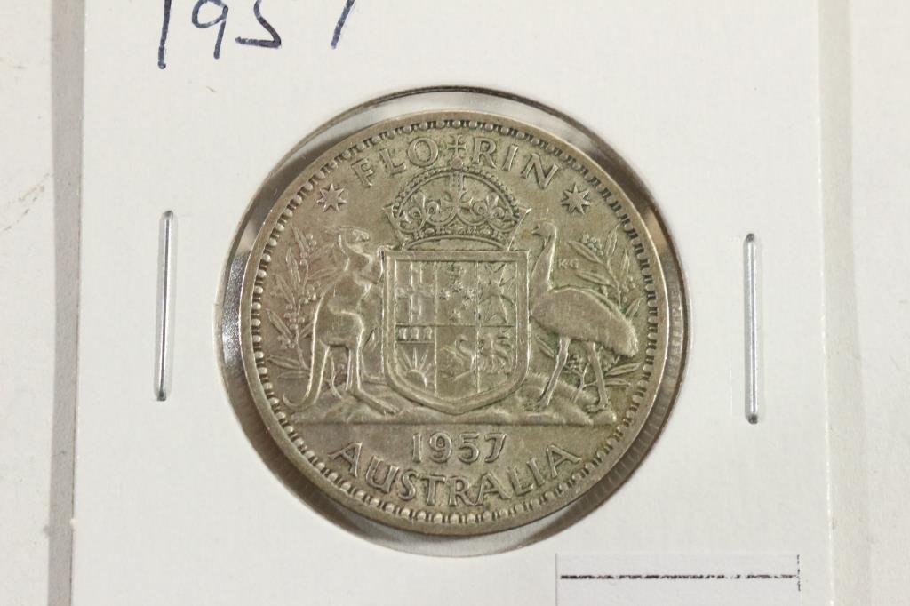 1957 AUSTRALIA SILVER FLORIN