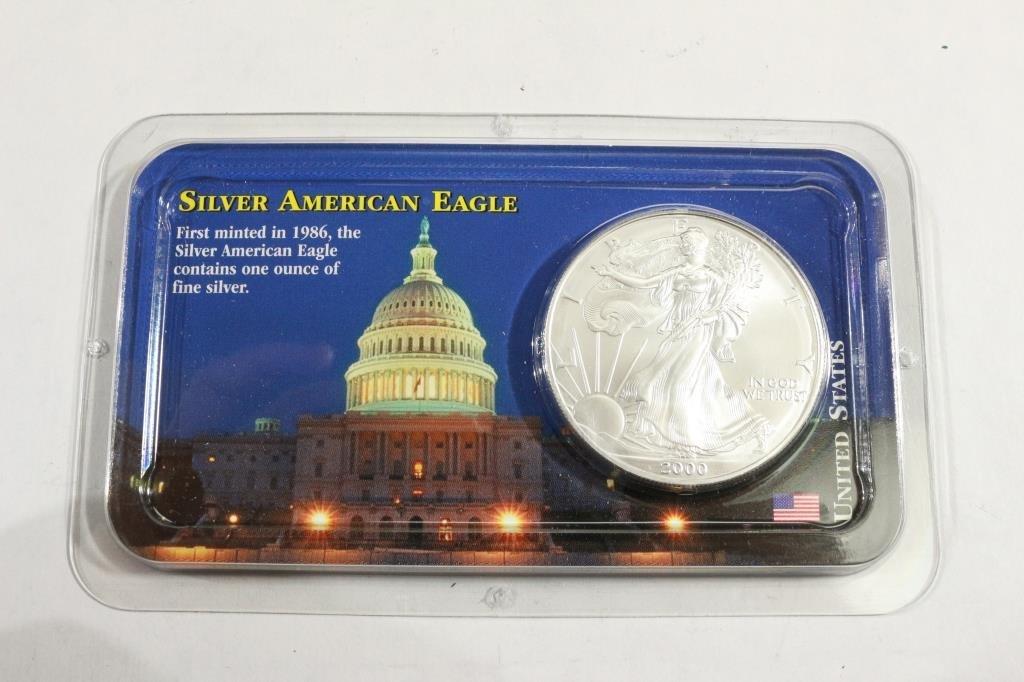 2000 AMERICAN SILVER EAGLE UNC
