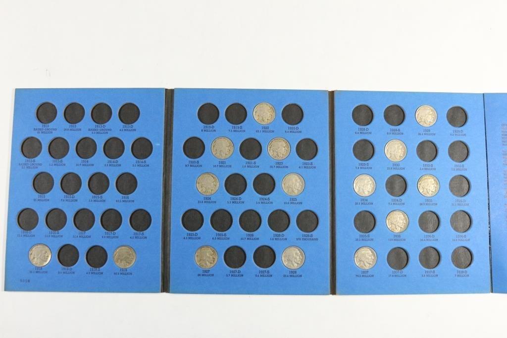 PARTIAL 1913-1938 BUFFALO NICKEL SET 15 COINS