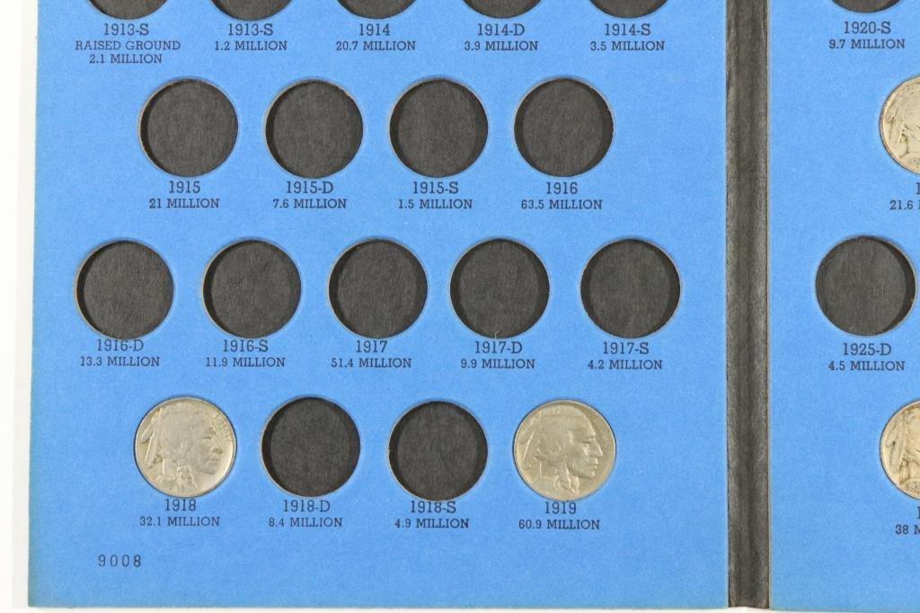 PARTIAL 1913-1938 BUFFALO NICKEL SET 15 COINS - 2