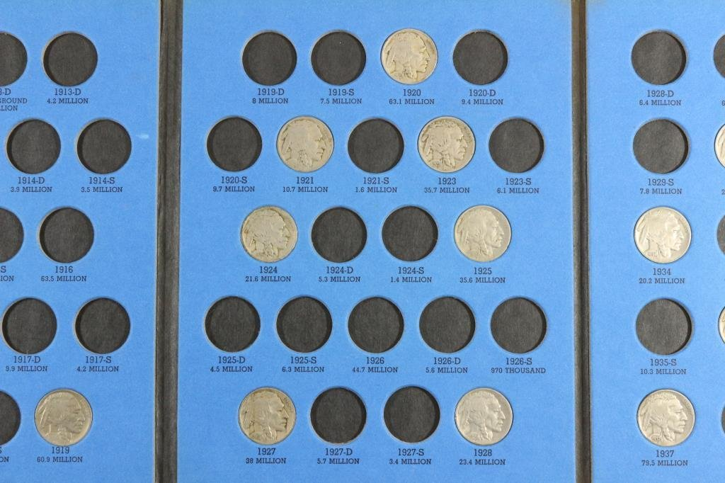 PARTIAL 1913-1938 BUFFALO NICKEL SET 15 COINS - 3
