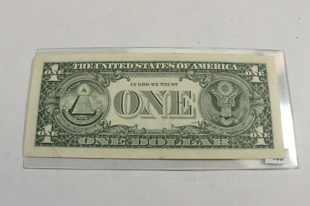 1993 $1 FEDERAL RESERVE NOTE SIGNED BY MARY ELLEN - 2