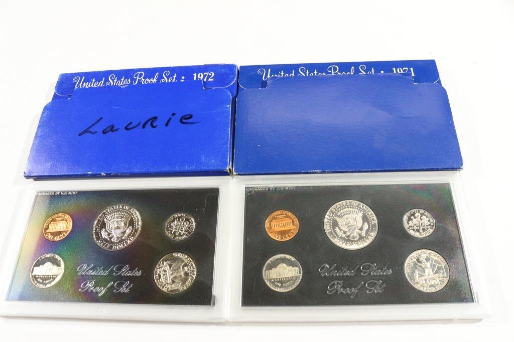 1971 & 1972  US PROOF SETS (WITH BOXES) - 2