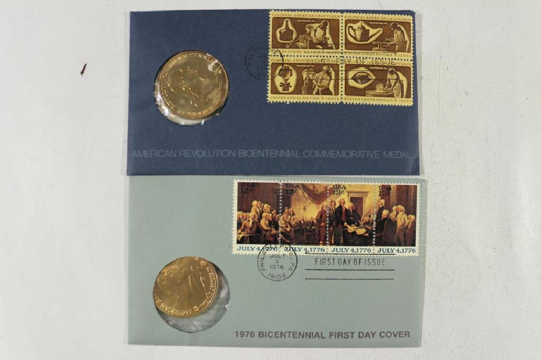 1972 & 1976 US MINT BICENTENNIAL 1ST DAY COVERS