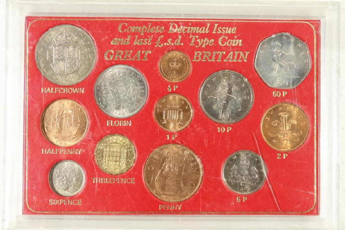 COMPLETE DECIMAL ISSUE & LAST L.S.D. TYPE COIN