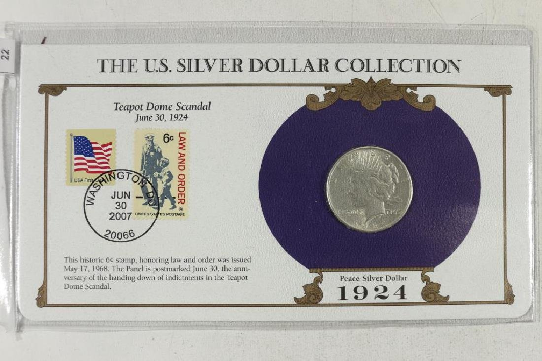 1924 PEACE SILVER DOLLAR & STAMP SET