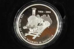 2004 AUSTRALIA 5 SILVER PROOF COIN 150 YEARS OF