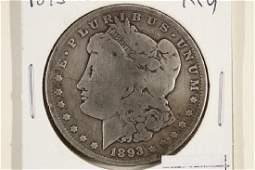 KEY DATE 1893-S MORGAN SILVER DOLLAR