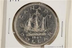 1949 CANADA SILVER DOLLAR UNC