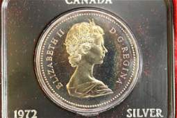 1972 CANADA SILVER DOLLAR PROOF TONING