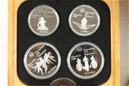 1976 CANADA OLYMPICS 4 COIN SILVER PROOF SET
