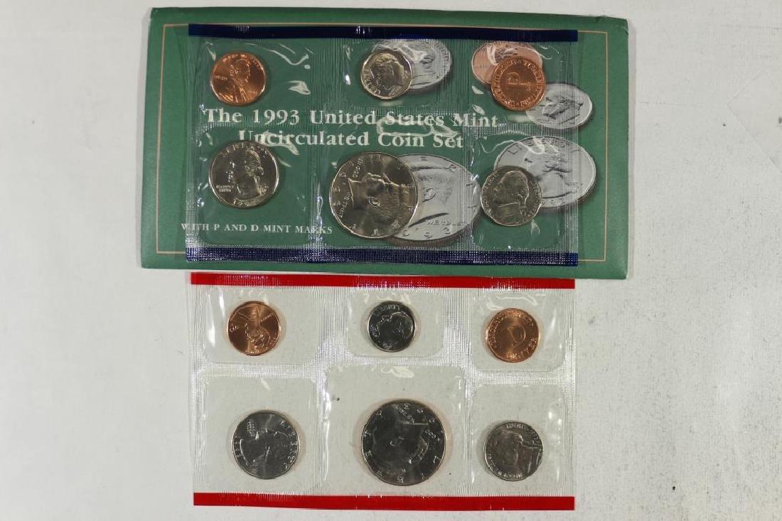 1993 US MINT SET (UNC) P/D (WITH ENVELOPE)