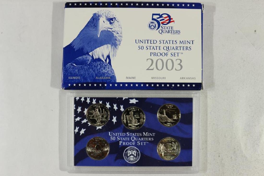 2003 US 50 STATE QUARTERS PROOF SET WITH BOX