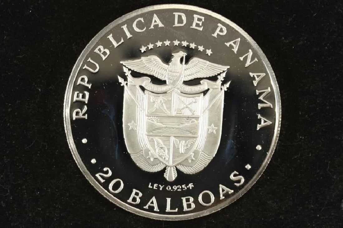 1975 PANAMA SILVER PROOF 20 BALBOAS