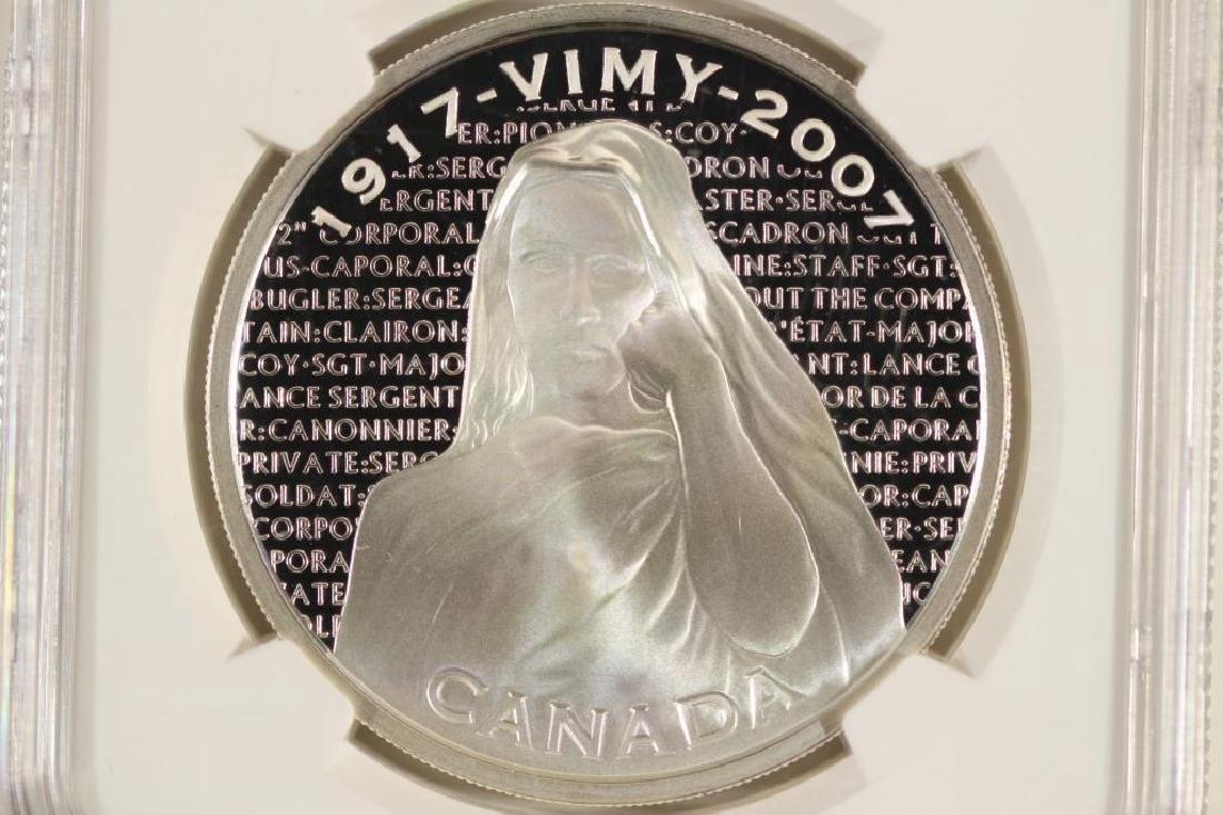 2007 CANADA SILVER $30 NATIONAL VIMY MEMORIAL NGC