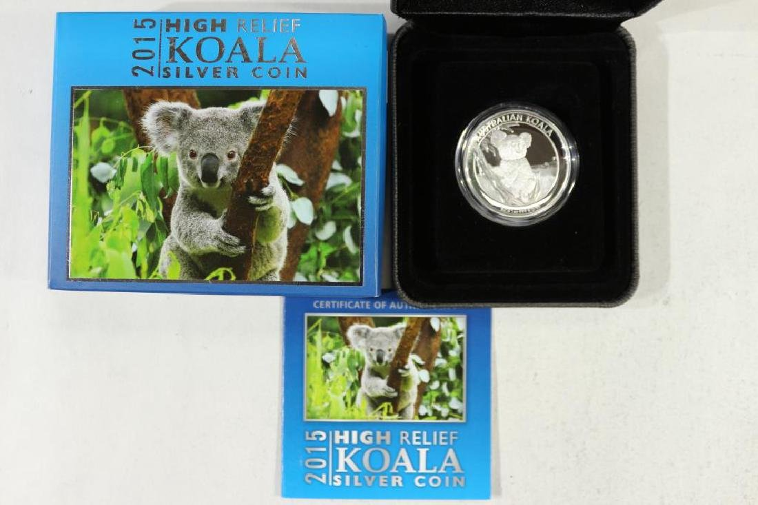 2015 AUSTRALIA HIGH RELIEF $1 SILVER PROOF COIN