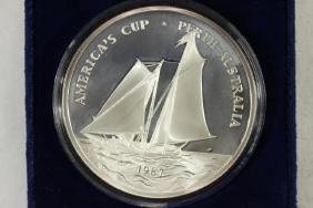 1987 SAMOA $25 5 TROY OZ. .999 SILVER PROOF COIN