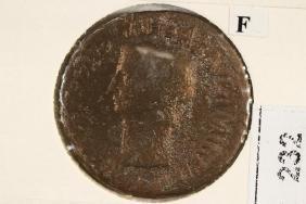 41-54 A.D. CLAUDIUS I ANCIENT COIN (FINE)
