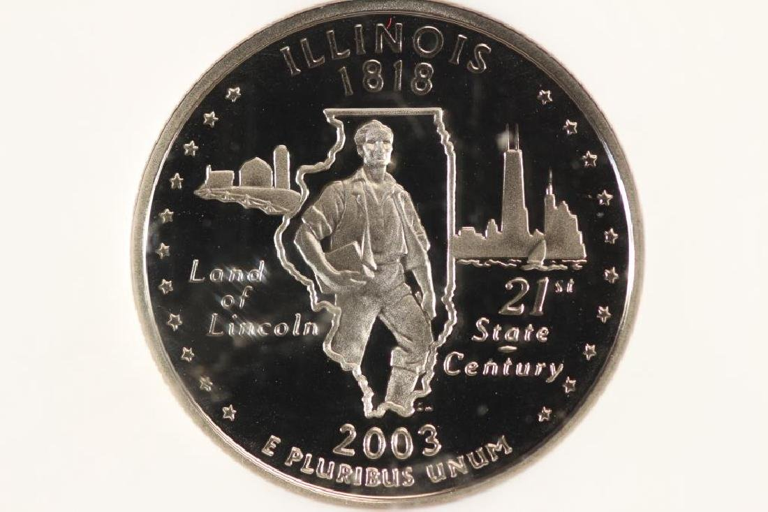 2003-S ILLINOIS QUARTER NGC PF69 ULTRA CAMEO