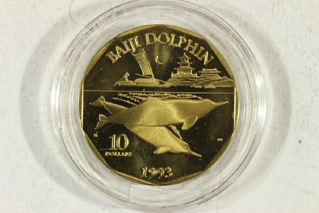 1993 MARSHALL ISLANDS $10 BRASS COIN PROOF