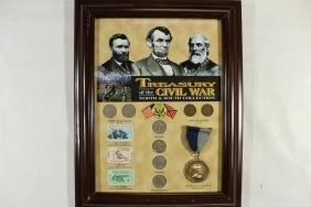 "10"" X 12 3/4"" FRAMED TREASURY OF THE CIVIL WAR"