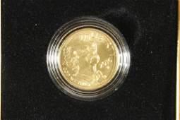 GOLD 2016-W MARK TWAIN $5 UNC 1/4 OZ. COIN