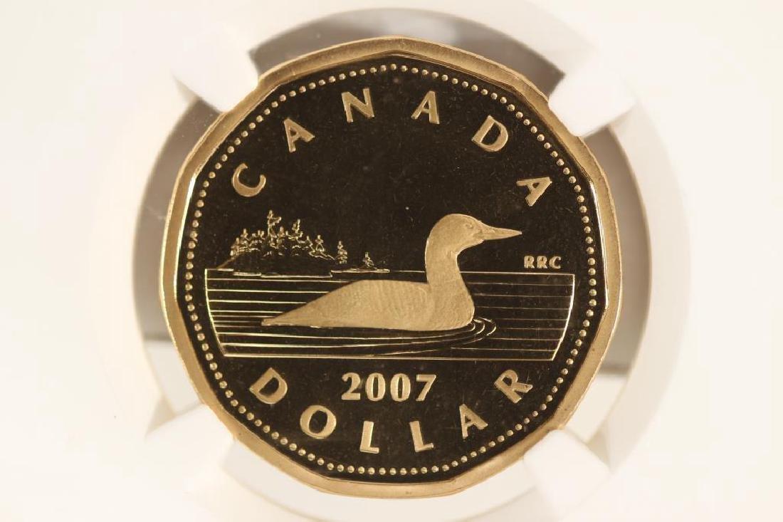 2007 CANADA $1 LOON DOLLAR NGC PF68 ULTRA CAMEO