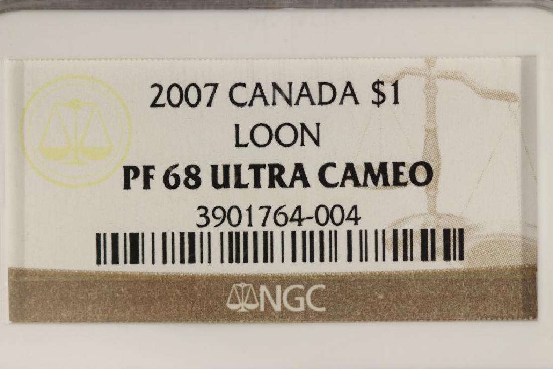 2007 CANADA $1 LOON DOLLAR NGC PF68 ULTRA CAMEO - 3