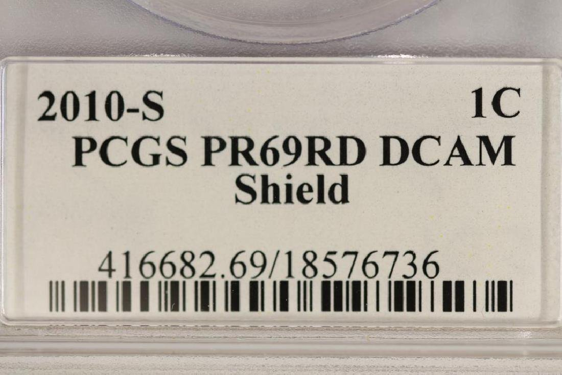 2010-S LINCOLN SHIELD CENT PCGS PR69RD DCAM - 4