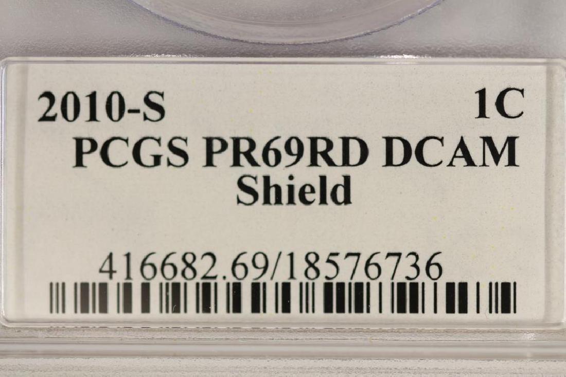 2010-S LINCOLN SHIELD CENT PCGS PR69RD DCAM - 4