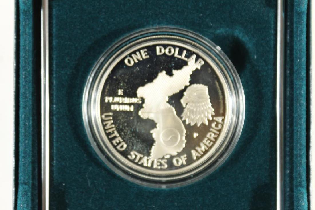 1991-P KOREAN WAR PROOF SILVER DOLLAR - 2