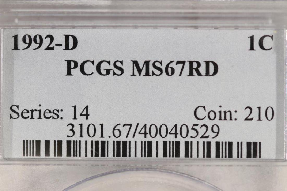 1992-D LINCOLN CENT PCGS MS67RD - 3