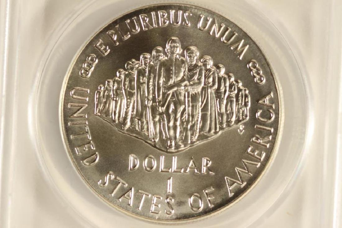 1987-P CONSTITUTION SILVER DOLLAR ANACS MS69 - 2