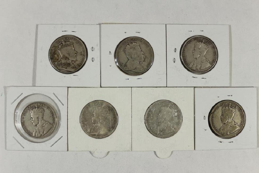 1906,10,12,17,18,19 & 29 CANADA SILVER 50 CENTS - 2