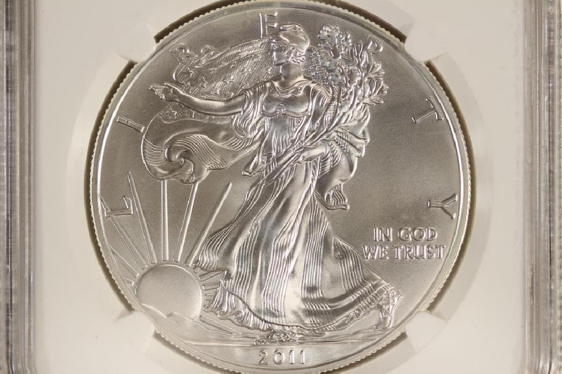 2011 AMERICAN SILVER EAGLE NGC MS69 EARLY RELEASES