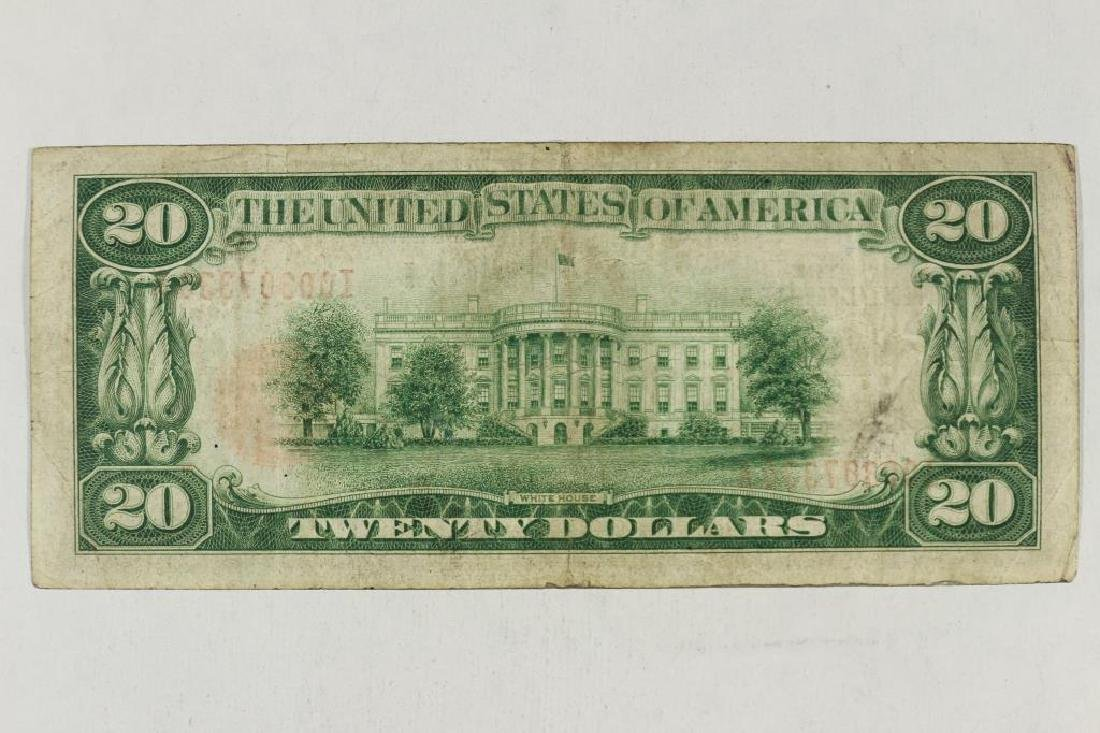 1929 $20 NATIONAL CURRENCY MINNEAPOLIS BROWN SEAL - 2
