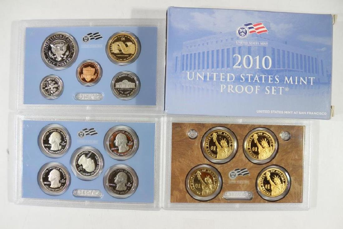 2010 US PROOF SET (WITH BOX) 14 PIECES - 2