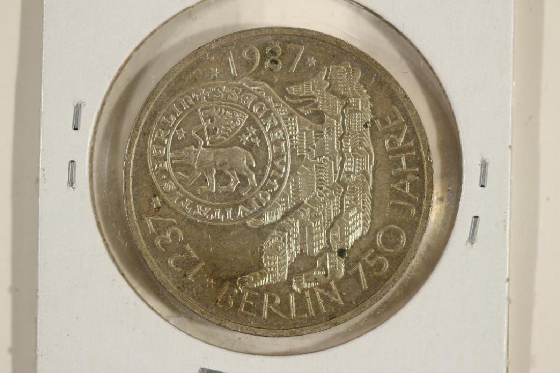 1987-J GERMAN SILVER 10 MARK .3114 OZ. ASW - 2