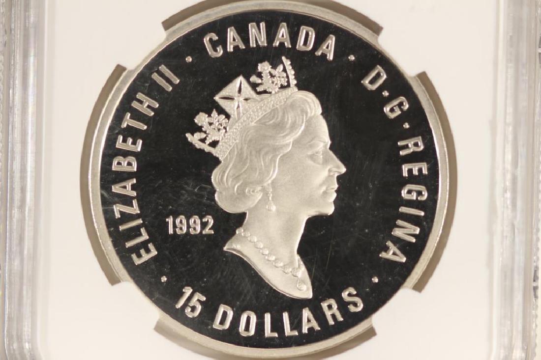 1992 CANADA SILVER $15 OLYMPICS 100TH ANNIVERSARY - 2