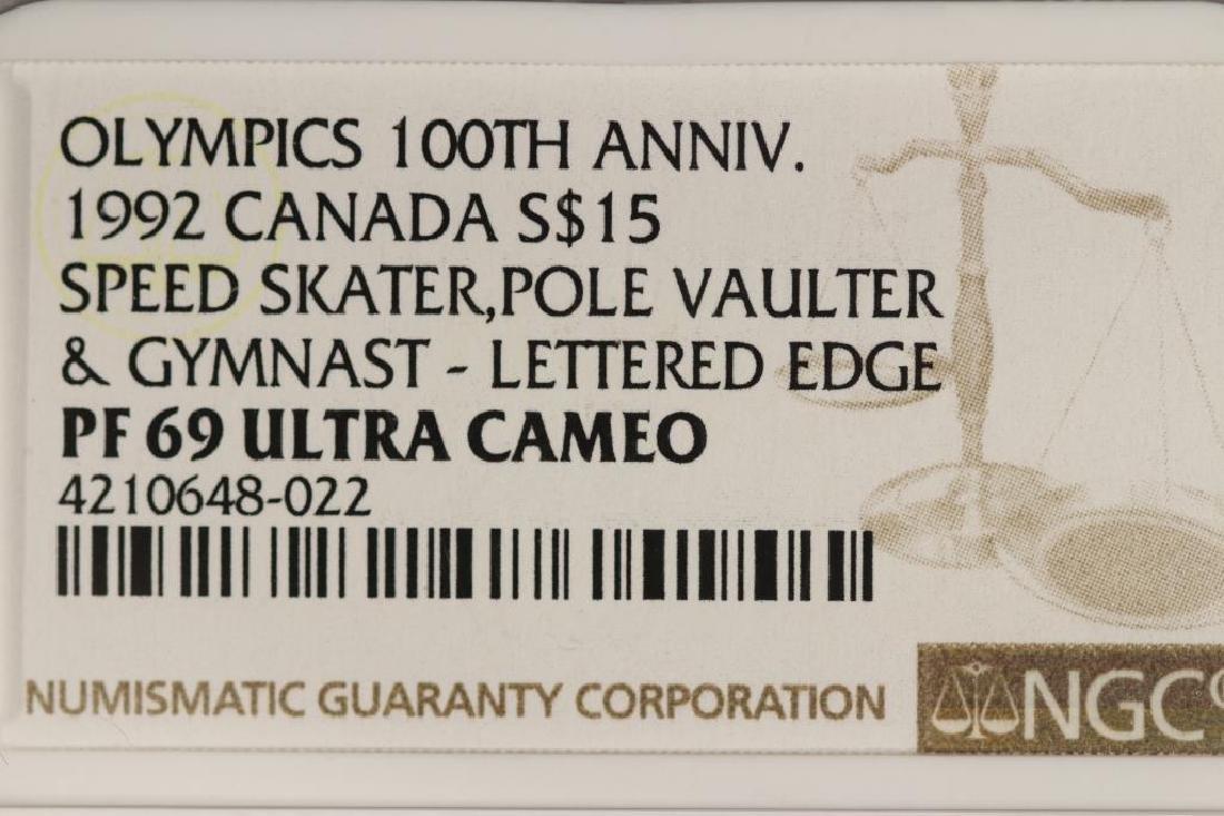 1992 CANADA SILVER $15 OLYMPICS 100TH ANNIVERSARY - 3