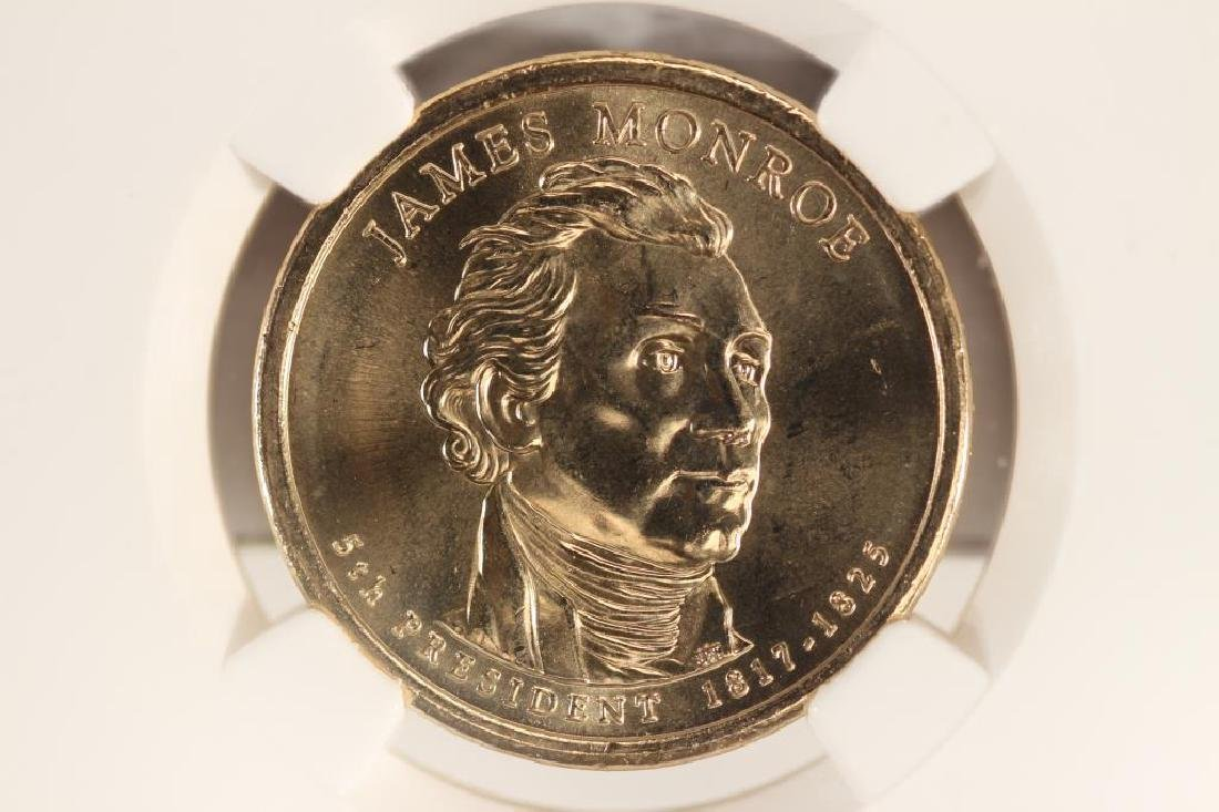 2008-P JAMES MONROE DOLLAR NGC BRILLIANT UNC