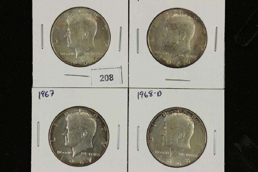 1965,66,67 & 68-D 40% SILVER JOHN F. KENNEDY 1/2'S