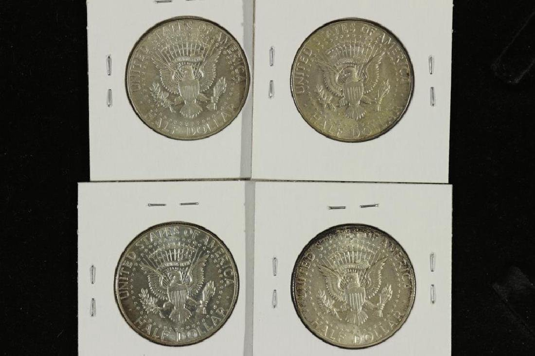 1965,66,67 & 68-D 40% SILVER JOHN F. KENNEDY 1/2'S - 2