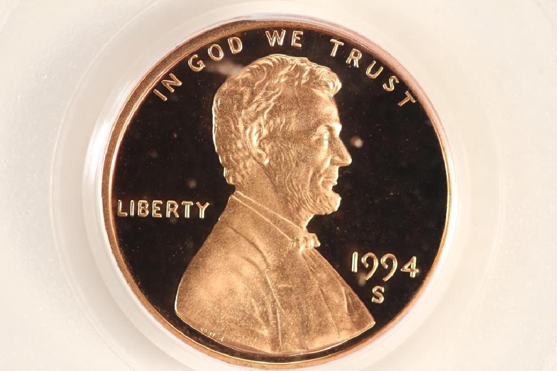 1994-S LINCOLN CENT PCGS PR69RD DCAM