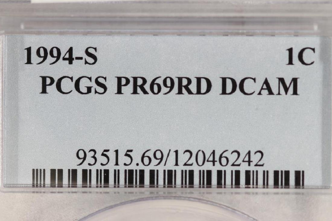 1994-S LINCOLN CENT PCGS PR69RD DCAM - 3