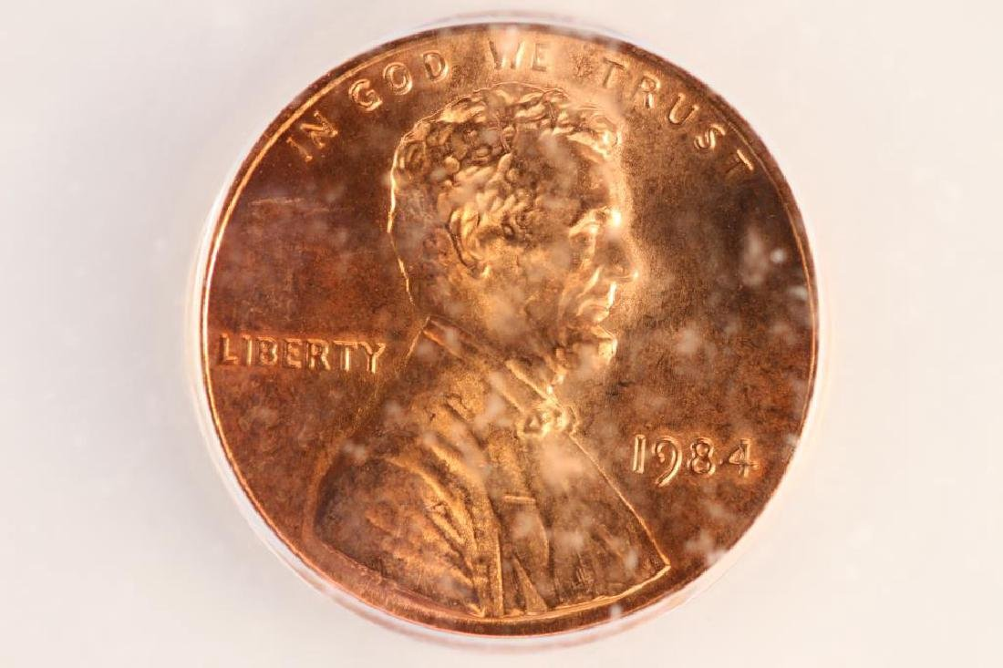 1984 LINCOLN CENT ICG MS66RD