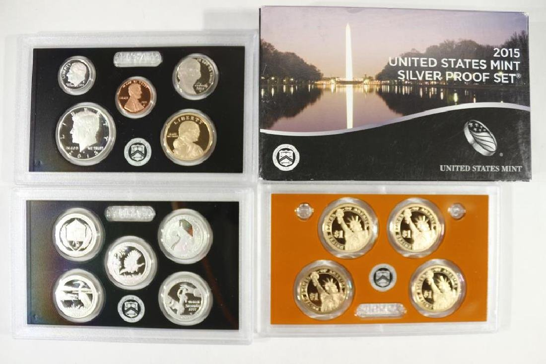 2015 US SILVER PROOF SET (WITH BOX) 14 PIECES
